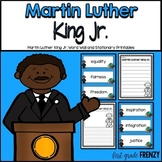 Martin Luther King Jr. Word Wall and Stationary
