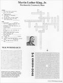 Martin Luther King Jr. Wordsearch Crossword Maze