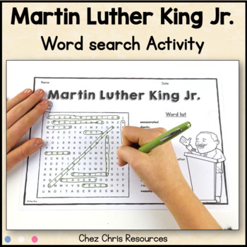 Wordsearch Activity - Martin Luther King Jr.