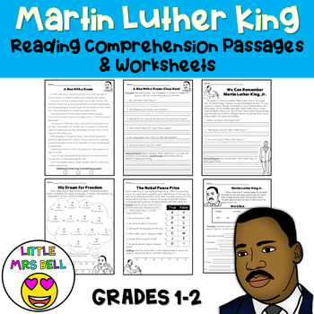 Martin Luther King Jr. Worksheets by Little Mrs Bell | TpT