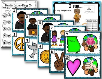 Martin Luther King, Jr. Write the Room - Digraph Edition