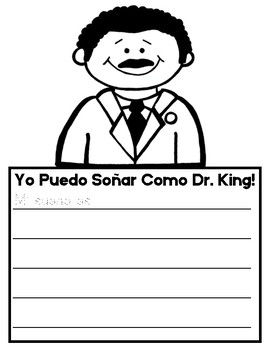 Martin Luther King Jr. Writing Activity - I Can Dream - Bilingual!