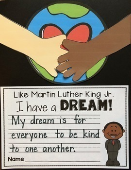 Martin Luther King Jr. Writing Craftivity in English, Spanish, and Vietnamese