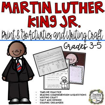 Martin Luther King Jr. Writing Craftivity & Printables