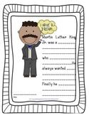 Martin Luther King, Jr. Writing Frame