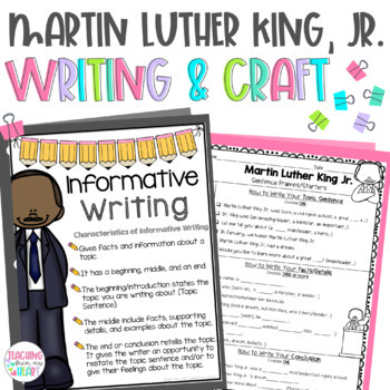 Black History Month, Martin Luther King Jr. Writing & Craft, Sentence Frames
