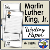 Martin Luther King Jr Writing Paper - Lined Paper with MLK Graphics