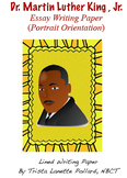Martin Luther King, Jr. Writing Paper (Portrait Orientation)