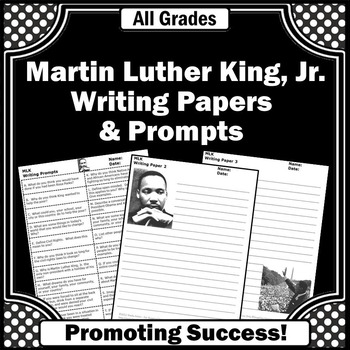 Martin Luther King Jr Day Writing Papers & Prompts Inaugur