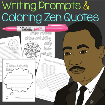 Mlk Day Writing Prompt Templates And Coloring Quotes Tpt