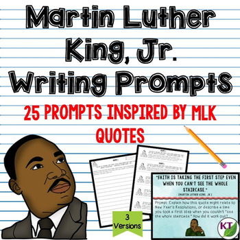 Martin Luther King, Jr. Writing Prompts
