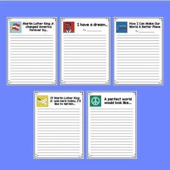 Martin Luther King Jr. Writing Prompts Grades 3-5