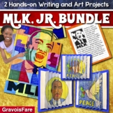 Martin Luther King Jr Writing and Art Activity BUNDLE: 2 Hands-on Projects