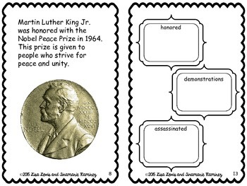 Martin Luther King Jr~ a One Week Reading Unit {booklet}