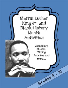 Martin Luther King Jr. and Black History Month Activities - Bundle