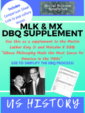 Martin Luther King Jr and Malcolm X DBQ Supplement
