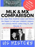 Martin Luther King Jr. and Malcolm X: Pop Culture Music Comparison
