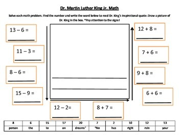 Martin Luther King Jr and Math
