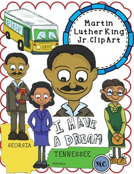 Martin Luther King Jr And Rosa Parks Clip Art Packet By Mariaan S Creations