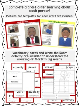 Martin Luther King, Jr. and Rosa Parks Mini Unit