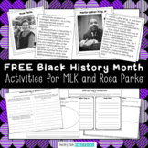 Free Black History Month Trading Cards with Reading Comprehension Activities