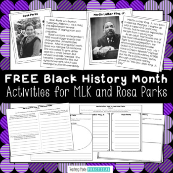 Free Martin Luther King Day Worksheets Resources Lesson Plans