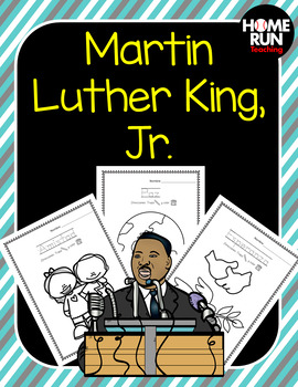 Martin Luther King, Jr. coloring book and worksheet in Spanish