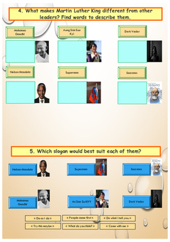 Martin Luther King: printable activities