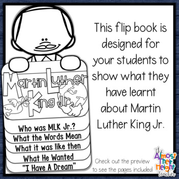 Martin Luther King Jr. - flip book -  writing and craft activity