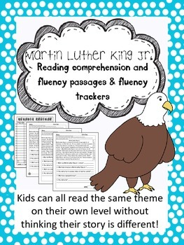 Martin Luther King Jr. fluency and comprehension passages