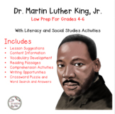 Martin Luther King, Jr.: Social Studies for Grades 4-6 With Literacy Activities