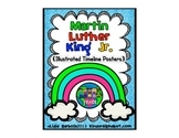 Martin Luther King Jr. illustrated Timeline Posters and Printables