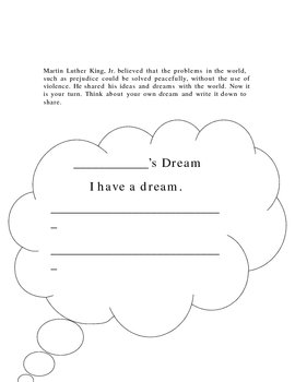 Martin Luther King, Jr. lesson plan and worksheets