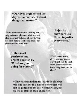 Martin Luther King, Jr. mini-poster