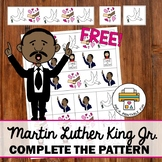 Martin Luther King Jr. Patterning Activity for Pre-K, Preschool and Tots