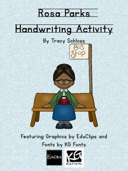 Rosa Parks Handwriting Activity