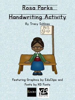 Rosa Parks Handwriting Activity