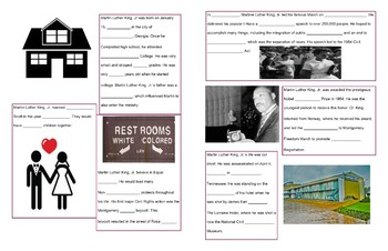 Martin Luther King, Jr. student handbook as a review! Editable version