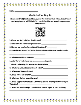 Martin Luther King Jr. with QR Code