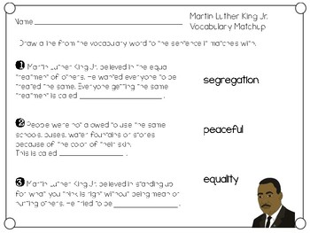 Martin Luther King Jr. writing & vocabulary