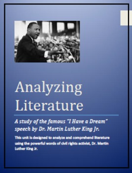 """Martin Luther King Jr...A study of the famous """"I Have a Dream"""" Speech."""