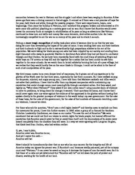 """Martin Luther King Jr.'s """"Beyond Vietnam"""" Speech with Qs"""