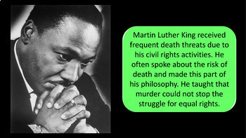 Martin Luther King Junior / Martin Luther King 60 Slide PowerPoint Presentation