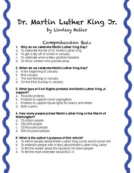 Martin Luther King Junior Packet