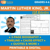 Martin Luther King Junior Text, Timelines, Cause/Effect, Q