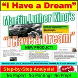 "Martin Luther King Junior's ""I Have a Dream"": Questions, A"