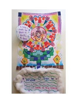 Martin Luther King Klimt Inspired Mosaic Peace Flowers