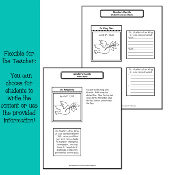 Martin Luther King Lapbook Interactive Activity