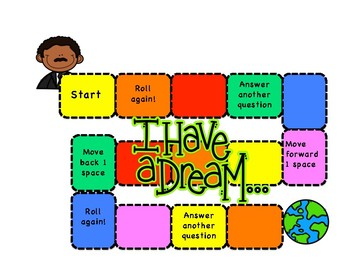 Martin Luther King  MLK Board Game Who What Where When Why and How Questions