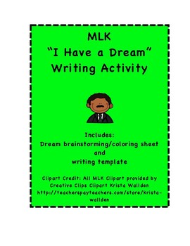 """Martin Luther King MLK """"Dream"""" Writing"""
